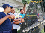 TED inspection by the Department of Fisheries Malaysia officers before the start of monsoon shrimp season in TED-compliant States © Marine Research Foundation