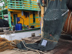 Fully built TED installed to the trawl net with the evidence-based camera system attached, ready for demonstration trials © Marine Research Foundation