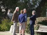L-R: Prof. Rhys Green, Jemima Parry-Jones and Chris Bowden enjoying some fresh air with Dr. Fernando Spina. © SEO BirdLife