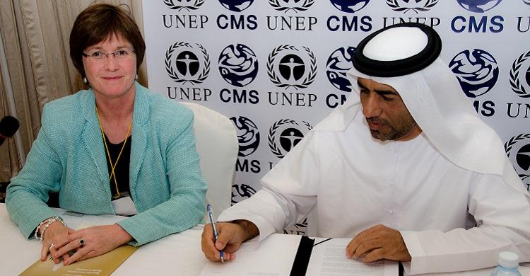 UAE signs the Sharks MOU © IFAW
