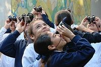 Children participating in WMBD in Argentina © Miguel Lillo Foundation