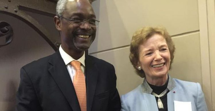 Dr Ibrahim Thiaw, Deputy Director-General of UNEP and former President of Ireland Mary Robinson