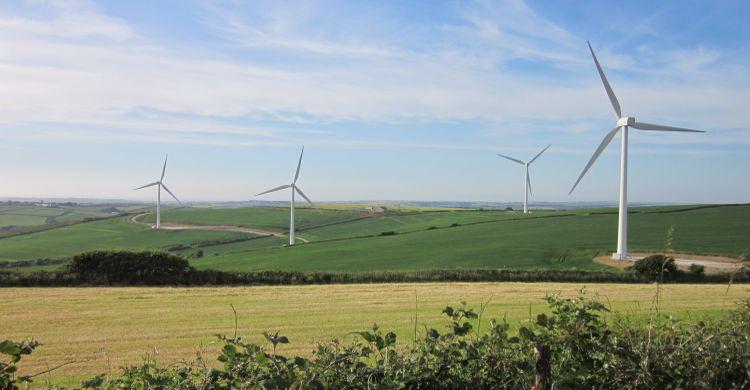 Windfarm in Cornwall, UK