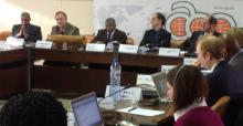 Meeting participants at the ACP-MEAs Workshop in Brussels. Photo: Mamadou Kane (UNEP DELC)