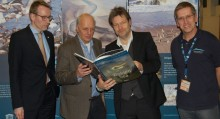 "The English version of the book ""The Wadden Sea"", the first book that shows the entire Wadden Sea World Heritage Site was launched at ITB in the presence of the Minister of the Environment of Schleswig Holstein, Robert Habeck."