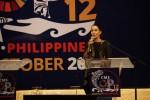 Ms Nadya Hutagalung moderating the Migratory Species Champion Awards ceremony © Aydin Bahramlouian