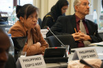 The representatives of the Philippines updating the meeting on progress regarding preparations for COP12