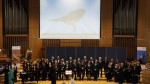 Operatic choir Lirica San Rocco from Bologna, Italy and Bonn's former Oberbürgermeister (Lord Mayor), Jürgen Nimptsch performing at Bonn University on the occasion of World Migratory Bird Day 2016