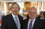 Bradnee Chambers, Executive Secretary of UNEP/CMS (L) - Reinhard Limbach, Bonn's Bürgermeister (Mayor) (R)