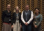 Ms. Marie Mevellec, WMBD Coordinator, Ms. Susan Bonfield, Executive Director of Environment for the Americas, Mr. Florian Keil, CMS and AEWA Communication Officer and Ms. Tomoko Ichikawa, Communication Officer EAAFP Secretariat © EAAFP