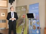 Dr Tilman Schneider, Secrétariat de la CMS, lors d'une présentation © Stefan Ferger, Euronatur