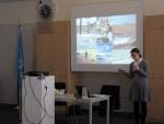 Natalya Yakusheva, Terrestrial Species Team consultant, presents CMS instruments in CA
