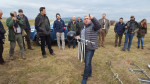 Sven Aberle, Austrian Power Grid AG, demonstrating power line modifications to prevent collisions of Great Bustards © Förderverein Großtrappenschutz e.V.