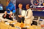 Sri Lanka is now a Signatory to the Sharks MOU - Hon. Mr. Gamini Jayawickrama Perera, Minister of Sustainable Development and Wildlife, signed the Memorandum © Aydin Bahramlouian