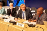 Mr. Colman Aristide Tehou is pleased that Benin is now a Signatory to the Sharks MoU © Aydin Bahramlouian