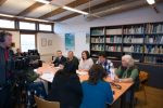 Press Conference at the Great Bustard Meeting at the Neusiedl National Park Centre in Illmitz, Austria, attended by Counsellor of the State Government of Burgenland, Austria, Ms Astrid Eisenkopf, Mr Kurt Kirchberger (Director of the National Park Neusiedl Lake – Hansag), Mr Werner Falb-Meixner (President of ÖGG), Mr Rainer Raab (EU LIFE Project Coordinator Austria) and Mr Tilman Schneider (CMS Secretariat) © Förderverein Großtrappenschutz e.V.