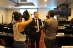 Sharks MOS2 - Chair Fernando Mora Rodríguez, Vice Minister of Waters, Oceans, Coasts and Wetlands, Costa Rica being intervied by journalists © IISD