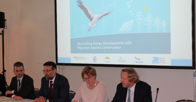"Panel members at Side Event ""Reconciling Energy Developments with Migratory Species Conservation"""
