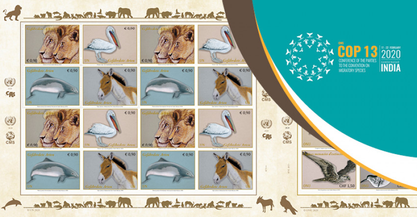 Special Issue of UN Stamps Featuring Migratory Species Launched at CMS COP13